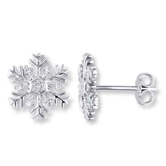 Kay Jewelers Jewelry Jared Diamond Snowflake Earrings Poshmark